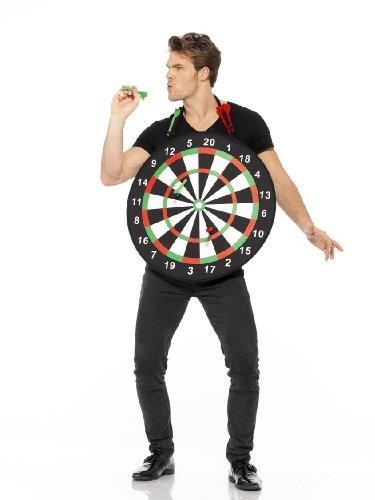 Dartkostüm Herren Dartscheibe Dart Pfeil Bullseye The Power Gr. L (Dart Kostüme)