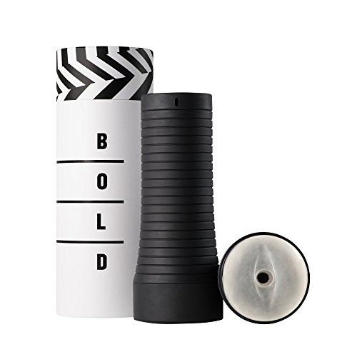 BOLD Advanced Masturbator mit Stimulationsrillen, black