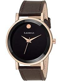 Laurels Lo-moon-020905 Analog Black Dial Men's Watch-Lo-Moon-020905
