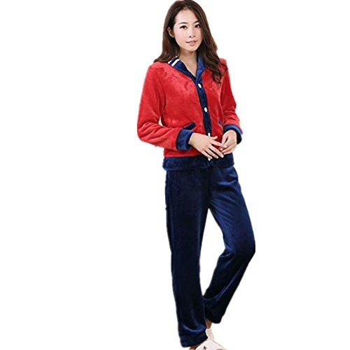 DMMSS Comfort Sleepwear manica lunga Pajama Set delle donne con
