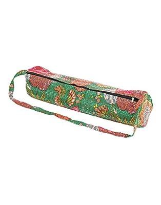 Attraktive Baumwolle Yoga-Matte Tasche Kantha Arbeit Frucht durch Rajrang