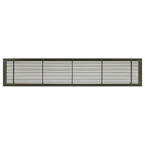 Architectural Grille 100041206 AG10 Series 4 x 12 Solid Aluminum Fixed Bar Supply/Return Air Vent Grille, Antique Bronze Finish by Architectural Grille