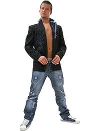 TOP Designer Blazer Jacke Sakko Schwarz/Beige (003)