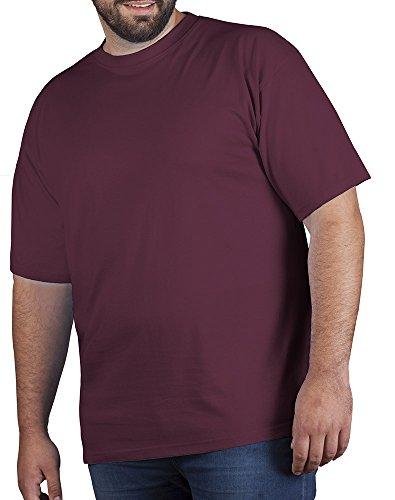 Premium T-Shirt Plus Size Herren, 5XL, Burgund