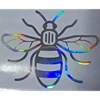 AC Vinyl Designs Manchester Bee Neo chrome Oil Slick holographic holographic tribute car van hologram bike go to decal sticker shiny glitter car foil