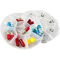 Xsj Mini Pillendose 7 Tage Medizin Runde Tragbare Reise Lagerung Vitamin Box Sort Tablet Halter Veranstalter Container... preisvergleich bei billige-tabletten.eu