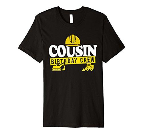 Cousin Geburtstag Crew Shirt Konstruktion Thema Bday -