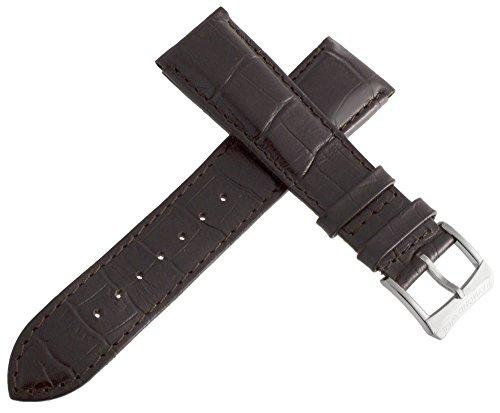 Raymond Weil 21mm Braun Alligator Leder Uhrenarmband mit Silber Ton Schnalle