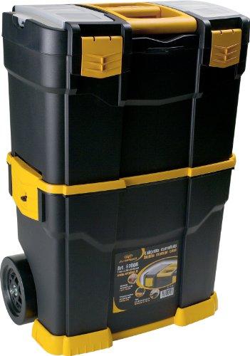 Art Plast 6700R caja de herramientas - cajas de herramientas 46 cm, 28 cm, 66,5 cm Negro, Naranja