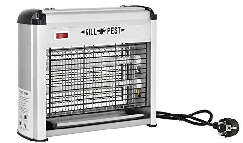 Foto de Genius Factory®Mata insectos - matamoscas eléctrico, la mejor solución contra moscas, mosquitos, polillas y demás insectos, aluminio luz UVA ultravioleta potencia:12W