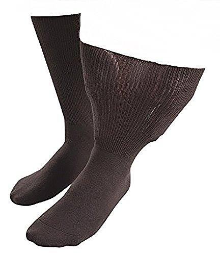 Fuß-behandlungs-system (Sock Shop Iomi Footnurse - Herren & Damen socken extra weit bund ödeme beine behandlung gesundheitssocken für geschwollene füße (43-45 eur, Braun))