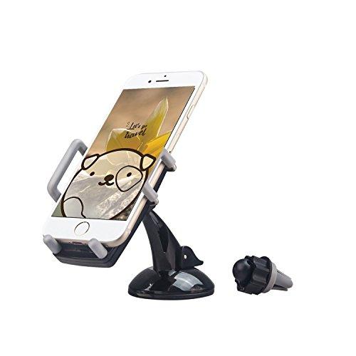 Handyhalterung Auto, TechCode® 3 in 1 Universal-Handy-Dashboard-Air Vent und Windschutzscheiben -Halter Universal für alle Smartphones oder GPS-Gerät Ipod-dashboard Mount