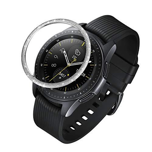 Nourich Panzerglas Schutzfolie for Samsung Galaxy Watch 42MM, 9H Härte, Anti-Kratzen, Anti-Öl, Anti-Bläschen Blendenring-Abdeckfolie für Kratzfeste Edelstahl