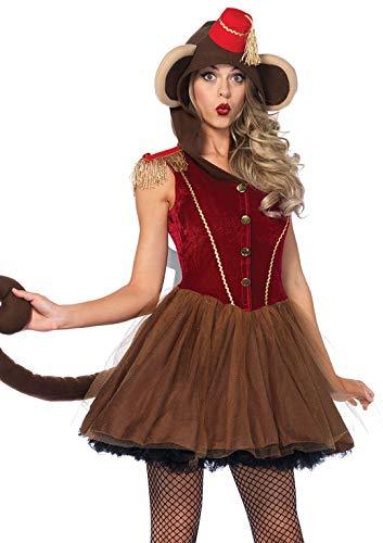 Leg Avenue 86640 Wind-Up Affe, Damen Karneval Kostüm Fasching, S, (Fez Fancy Dress Kostüm)