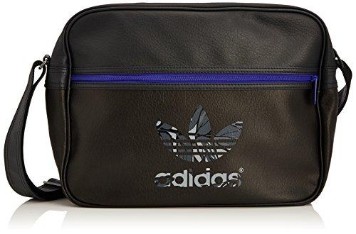 adidas Tasche Originals Airliner Classic Street, Black/Carbon S14/Night Flash S15, 38 x 12 x 28 cm, 17.2 Liter, S20100
