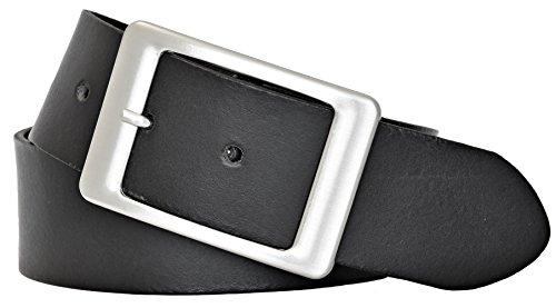 Vanzetti Damen Leder Gürtel Belt Ledergürtel Damengürtel schwarz 40 mm (105 cm)