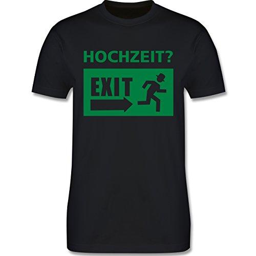 JGA Junggesellenabschied - Hochzeit Exit - Herren Premium T-Shirt Schwarz