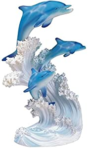 StealStreet SS-G-90085 Marine Life Three Dolphin Design Figurine Statue Decoration Collection