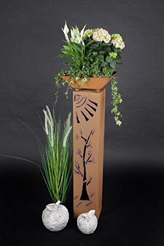 floristikvergleich.de Jabo Design Rost Säule + Schale RS35 + S01 Kostenloser Versand Blumensäule Rostsäulen Rost Deko