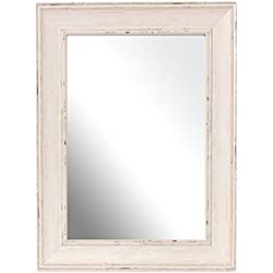 Inov8 A4 lavar British espejo marco de tamaño grande, madera de nogal
