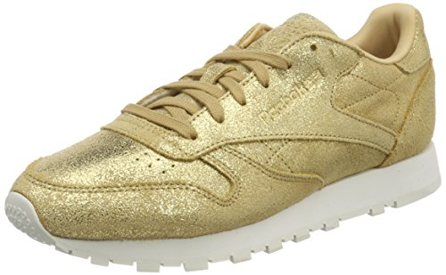 Reebok Damen Classic Leather Shimmer Sneaker, Gelb (Gold/Chalk Cn0574), 38 EU