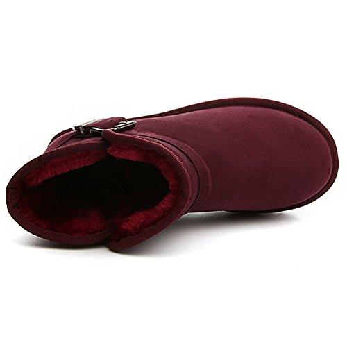 Hattie ,  Damen Kurzschaft Stiefel Date Red