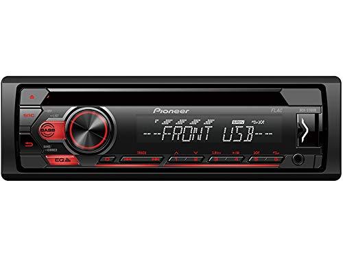 Pioneer-DEH-S110UB-1-DIN-Autoradio-mit-CD-USB-AUX-fr-Citroen-C1-P-2005-2010-schwarz
