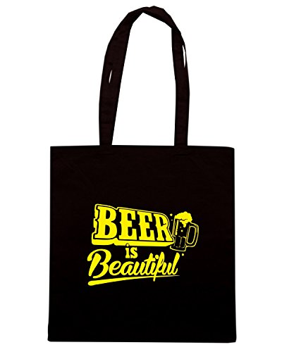 T-Shirtshock - Borsa Shopping FUN0293 12 18 2012 Beer Is Beautiful T SHIRT det Nero