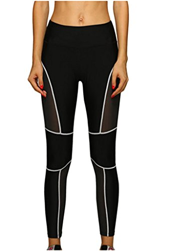 lotus-instyle-womens-line-tights-mesh-panels-workout-sports-gym-yoga-leggings-pants-white-m