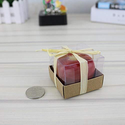 BTKNOO Velas de Fruta Artificiales, con Forma de Manzana Artificial, para Navidad,...