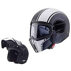 Caberg CASCO JET GHOST LEGEND MATT BLACK//WHITE XS