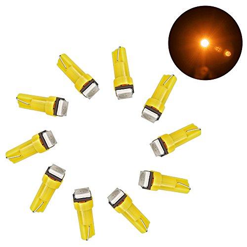 Lot de 10 ampoules sMD lED t5 tachobeleuchtung 3 x 3528 sMD int/érieur /éclairage int/érieur compteur de tableau de bord 3 lED sMD-blanc//rouge//bleu w1.2W w2.3W//vert