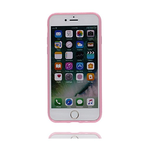 iPhone 6 Plus/ 6s Plus Custodia, copertura per iPhone 6s Plus [TPU Silicone Transparent] Sofi Durable Custodia Ultra sottile antigraffio Case Cover per iPhone 6 Plus/ 6s Plus(5.5 inch) - porpora rosa
