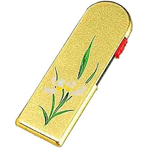 Hecho a mano con papel de oro Japones serie Takuiyo T14-16 Caja de Palillos de dientes (Orchid)