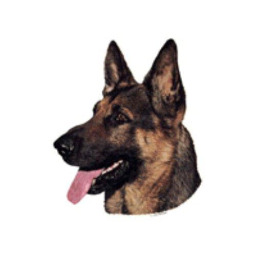 World Stickers Schwandt Heimtierbedarf 13025 Aufkleber 2 Stück ca. 140 x 160 mm für Warnschild Deutscher Schäferhund Kopf -