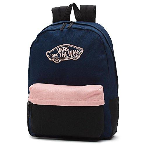 Imagen de vans realm backpack  tipo casual, 42 cm, 22 liters, azul dress blues/blossom