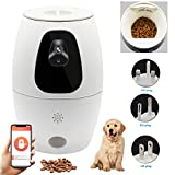 FADDARE Automatische Futterautomat Futterspender mit 720p HD-Kamera APP Video Remote Monitoring, 500ML Katzen Hunde Treat Dispenser Unterstützung Voice Intercom