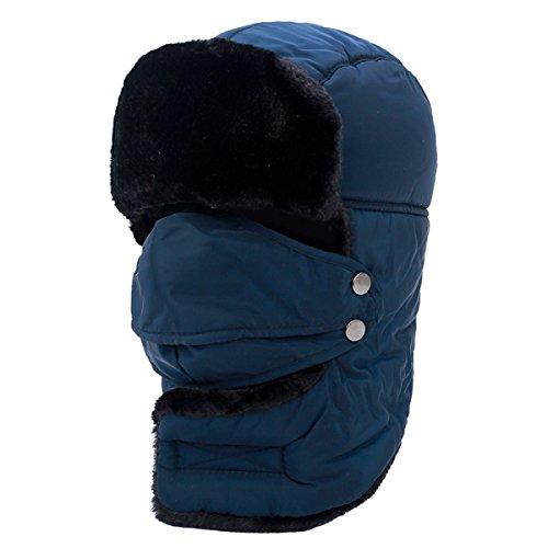en Windbreak Hut Männer Und Frauen Dicke Flugzeug Warmen Hut,Blue-OneSize (Blue Aviator Hut)