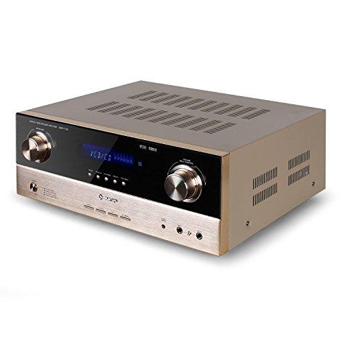 AUNA AMP-7100 Amplificador 7.1 Sonido Envolvente - 2000 W , Entradas: 1...