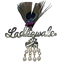 SHOPOBUDDY Brooch Ladkewale with Peacock Feather Wedding Accessories(Pack of 20)