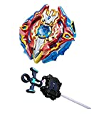 #9: Beyblade Gyro Battling Burst Starter Sieg Xcalibur Top Beyblade with Launcher Grip (Grip:Black) - Pack of 1
