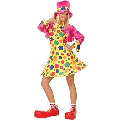 Lustiger Clown Verkleidung für Frauen Fasching Karneval Halloween Kostüm L