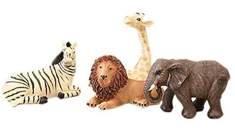 Figurines Girafe Lion éléphant zèbre pour chambre d'enfants décorations