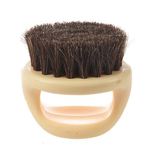 Shoe Brush - SODIAL (R) Horseshoe Shaped Soft Horse Hair Brush Horseshade Horse Brush Shoe Brush Airon Bag (Beige) + Free Cable Tie