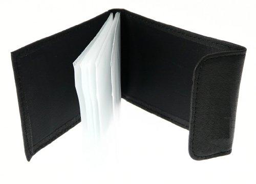 Nappa souple titulaire de la carte de crédit en cuir avec fermeture velcro - A 10 Cartes de crédit Slots