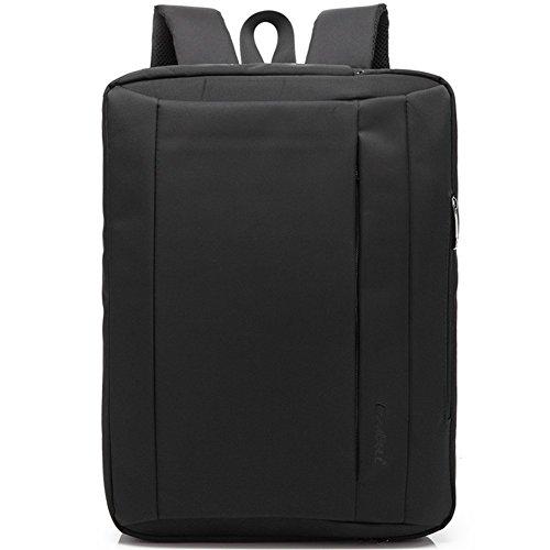 Multifuncional mochila para portátil, bolso, Cross Body bolsa de hombro para el hombre Viajes de negocios, ordenador portátil - Color Negra