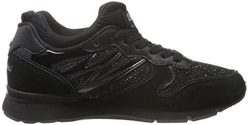 Wrangler - Runway Scuba, Scarpe da ginnastica Donna Nero (Schwarz (296 Black/Black))
