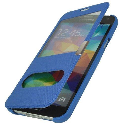 flipcover s5 betterfon Flipcover Samsung Galaxy S5 Blau Schutzhülle Case Cover Handytasche Flip Cover Hülle Tasche + gratis Displayschutzfolie