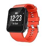 Squarex Bracelet de rechange Bracelet de montre bracelet Silicagel souple Band Sangle pour Garmin Forerunner 35montre, femme, Orange, AS Show