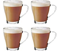 Get Goods Set Of 4 Cappuccino Tea Coffee Latte Hot Chocolate Cups Mugs Glasses